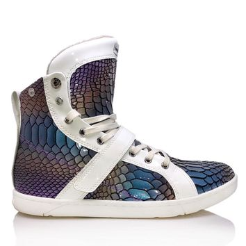 Rainbow Anaconda Super Shift High Top Sneaker for Bodybuilding