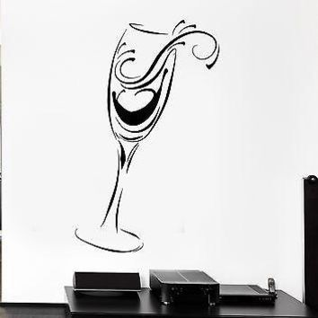 Vinyl Decal Wall Stickers Drink Glass Holiday Kitchen Restaurant Mural Unique Gift (ig2563)