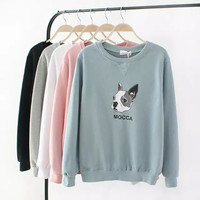 Dog Letter Print Sweater
