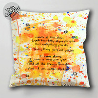 song quotes cold play pillow case, cushion cover ( 1 or 2 Side Print With Size 16, 18, 20, 26, 30, 36 inch )