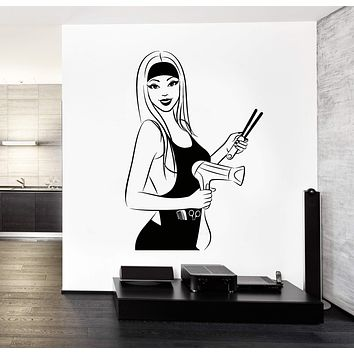 Wall Vinyl Sticker Decor for Beauty Salon Hair Stylist Spa Unique Gift (z3291)
