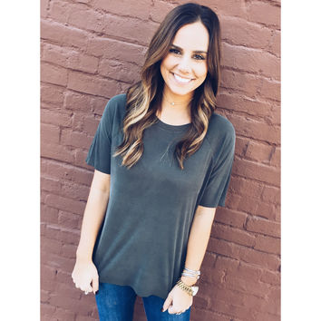 Touch and Feel Tee- Olive
