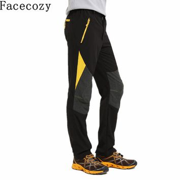 Facecozy Men Summer&Spring Quick Dry Sport Pant Outdoor Hiking&Trekking Trousers Multi-Use Rock Climbing&Fishing&Cycling