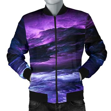 NP Purple Universe Men's Bomber Jacket