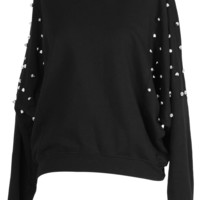Rivet Cut Out Black Jumper - New Arrivals - Retro, Indie and Unique Fashion