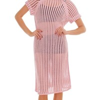 Sparks Fly Open Knitted Dress - Dust Pink