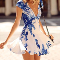 Tile Print Swing Dress
