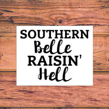 Southern Belle | Sassy Southern Decal | Preppy Southern Girl Decal | Arrow Decal | Southern Arrow Decal | Preppy Arrow Decal | Sassy | 332