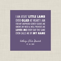 $10.00 I Am Jesus Little Lamb Personalized Print by wingedfeetdesign