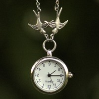 Victorian Watch Pendant Necklace