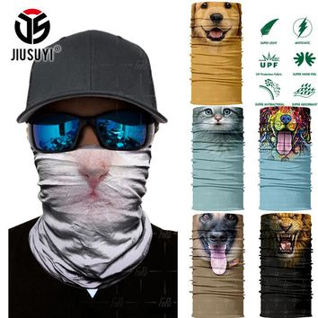 3D Seamless Magic Headband Animal Cat Dog Panda Tube Neck Warmer Face Mask Bandana Headwear Head Scarf Headband Halloween Men