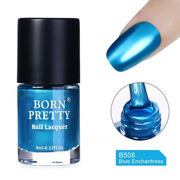 9ml Metallic Nail Polish Mirror Effect Red Blue Green Shiny Metal Nail Polish Varnish 5 Colors