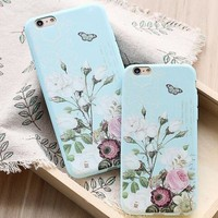 womens vintage floral iphone 5s 6 6s plus case cover nice gift box 446 2