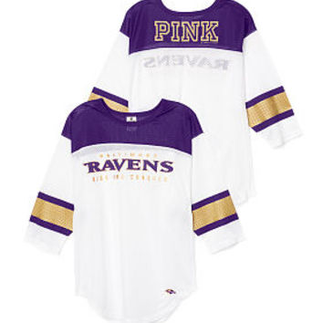Baltimore Ravens Long Sleeve Boyfriend Tee - PINK - Victoria's Secret