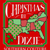 Southern Couture Christmas in Dixie Xmas Southern Red Girlie Bright Long Sleeve T Shirt