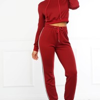 Bad Together Tracksuit - Burgundy