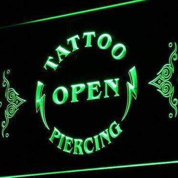 Tattoo Piercing Open Neon Sign (LED)