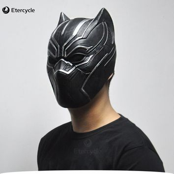 Black Panther Masks Movie Fantastic Four Cosplay Men's Latex Party Toy Halloween