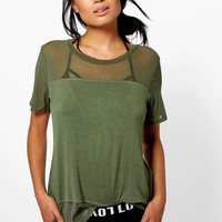 Willow Mesh Panel Oversized Tee