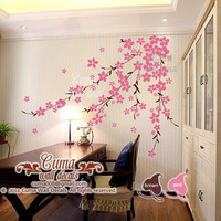 flower wall decals cherry  blossom  vinyl wall decals girl nursery wall decals sticker children wall decal- cherry blossom Z168 cuma