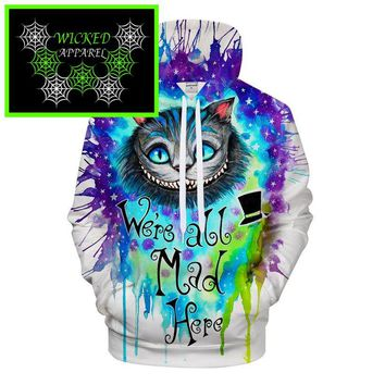 Wicked Apparel We are all mad here Hoodie by Pixie cold #702