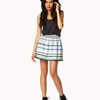 Essential Textured Woven Striped Skirt | FOREVER 21 - 2039202213