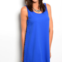 Royally Yours Blue Shift Dress
