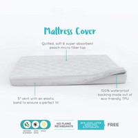 """24""""×38"""" Waterproof Mattress Protector for Pack N Play Baby Crib Mattress Fitted Sheet Bed Pad Cover Fits Portable Playard Mattress"""