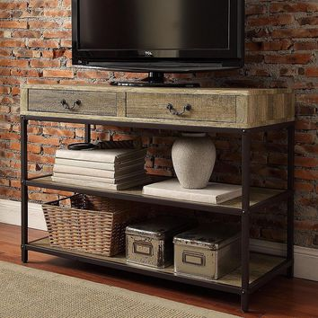HomeVance Donovan Industrial TV Stand (Brown)