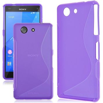 Free Tempered Glass For Sony Xperia Z1 Z3 Z5 Case Matte Silicon Soft Cover Shock Protective Case For Sony Z5 Z3 Z1 Compact Case