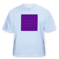 Purple Shaman Abstract Tribal Geometric Pattern Textile - Light Blue Infant Lap-Shoulder Tee (6M)