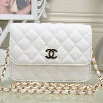 CHANEL Women Fashion Leather Chain Satchel Shoulder Bag Handbag Crossbody G-YJBD-2H