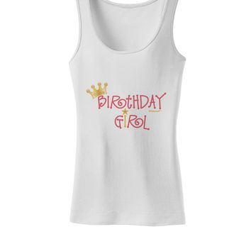 Birthday Girl - Princess Crown and Wand Womens Tank Top by TooLoud