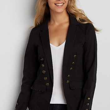 military blazer with destruction | maurices