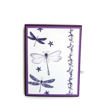 Dragonfly Birthday Card Birthday Cards Purple Dragonfly Card