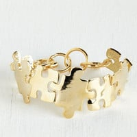 ModCloth Quirky, Scholastic Love You to Pieces Bracelet