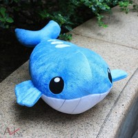 Cartoon Plush Toys 35cm Wailord Soft Stuffed Plush Doll Baby Toy Animal Cartoon Gift for Children
