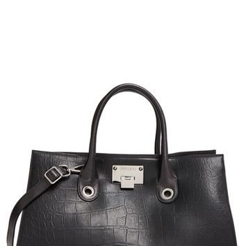 Jimmy Choo 'Riley' Croc Embossed Leather Tote | Nordstrom