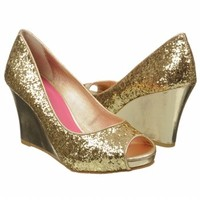 Women's Lilly Pulitzer Resort Chic Glitter We Gold Glitter Shoes.com