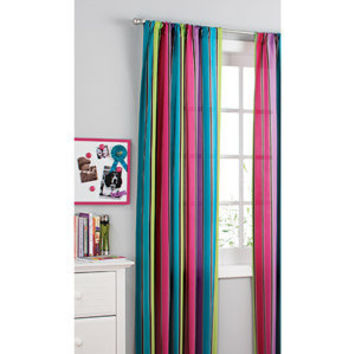 Walmart.com: your zone printed microfiber window curtains, pop stripe, set of 2: Kids' & Teen Rooms