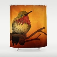 The Sunset Bird Shower Curtain by Texnotropio