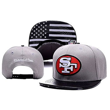Isymeotu-PP Unisex Adjustable Fashion Leisure Baseball Hat San Francisco 49ers Snapback Dual Colour Cap