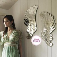 Mirrored Angel Wings, Dressing Table Mirrors   Graham and Green Mirrors