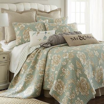 Verona 3-pc. Reversible Quilt Set - Full / Queen (Blue)