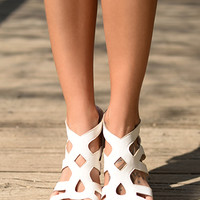 The Emma Wedge, White