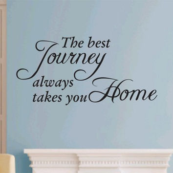 The Best Journey Quote Wall Decal Sticker Teen Love Girl Room Decor Words Tattoo