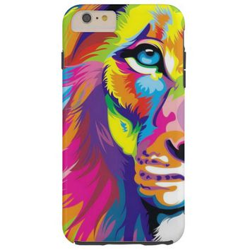 Watercolor Lion Painting Tough iPhone 6 Plus Case