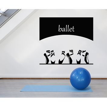 Vinyl Wall Decal Ballerina Shoes Opera Ballet Dance School Stickers Mural (g1691)