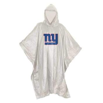 New York Giants NFL Clear Lightweight Poncho