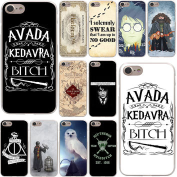 always Harry Potter Deathly Hallows Hard Case Transparent for iPhone 7 7 Plus 6 6s Plus 5 5S SE 5C 4 4S